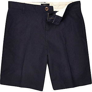 Navy tailored shorts