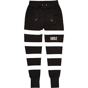 Black Systvm stripe joggers