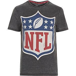 Grey NFL logo print t-shirt