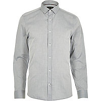Light grey smart long sleeve shirt
