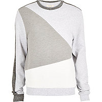 White colour block sweatshirt