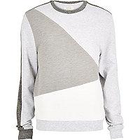 White colour block sweatshirt