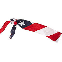 Red USA print bandana