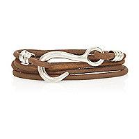 Brown rope hook bracelet