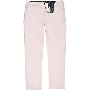 Light pink slim chino trousers