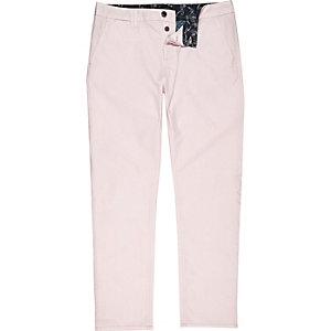 Light pink slim chino pants