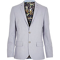 Light blue print lined blazer
