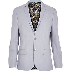 Light blue print lined blazer