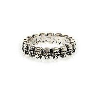 Silver tone skull ring
