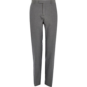Grey smart cotton trousers