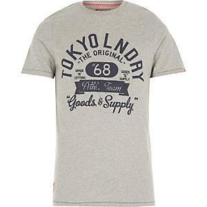 Grey Tokyo Laundry athletic print t-shirt