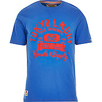 Blue Tokyo Laundry athletic print t-shirt