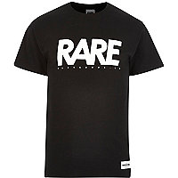 Black RAREGOODS.CO brand print t-shirt