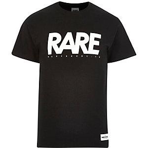 Black RAREGOODS.CO brand print t-shirt