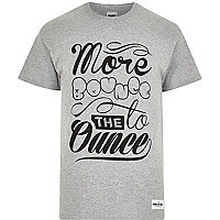 Grey RAREGOODS.CO more bounce print t-shirt