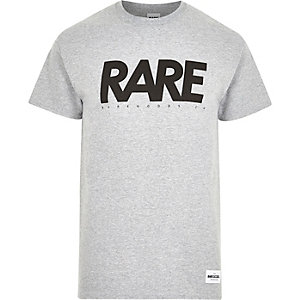 Grey RAREGOODS.CO brand print t-shirt