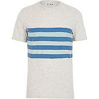 Cream HYMN striped short sleeve t-shirt