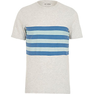 Cream HYMN striped short sleeve t-shirt