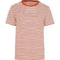 Red HYMN breton stripe t-shirt