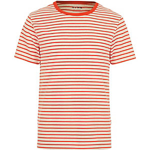 Red HYMN breton stripe t-shirt