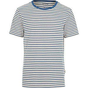 Navy HYMN breton stripe t-shirt