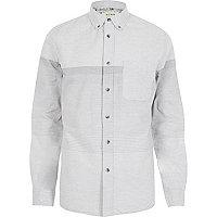 Grey HYMN gradient grey long sleeve shirt