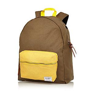 Green HYMN colour block backpack
