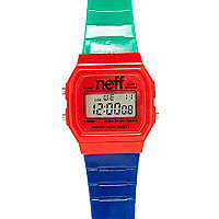 Red blue retro watch