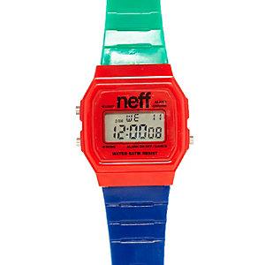 Red blue retro watch