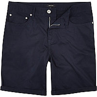 Navy blue chino shorts