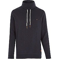 Navy Only & Sons high neck jumper