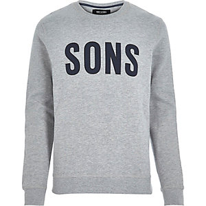 Grey Only & Sons print sweatshirt