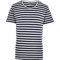 Blue Only & Sons stripe t-shirt