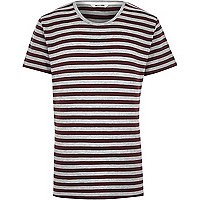 Brown Only & Sons stripe t-shirt