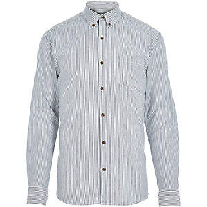 Blue Only & Sons striped long sleeve shirt