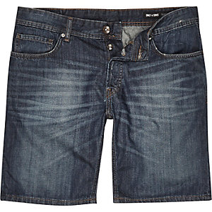 Dark wash Only & Sons denim shorts