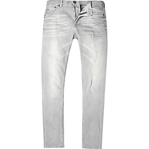 Light grey Only & Sons skinny jeans