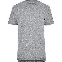 Grey stepped hem t-shirt