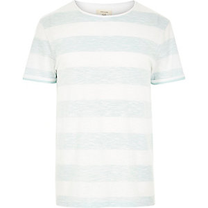 Light green faded stripe t-shirt