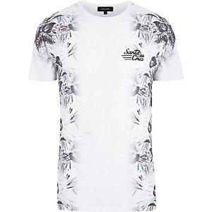 White Santa Cruz floral print t-shirt
