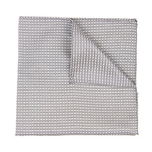 Grey twill pocket square