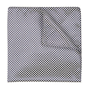 Navy grid print pocket square