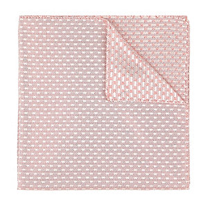 Red jacquard pocket square