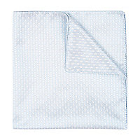 Light blue jacquard pocket square