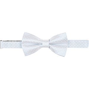 Light blue jacquard bow tie