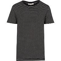 Black fine stripe t-shirt