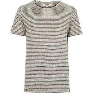 Grey fine stripe t-shirt