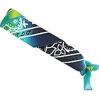 Blue tie dye print bandana