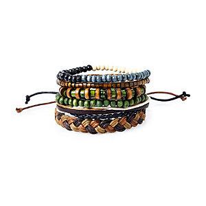 Green beaded bracelet pack