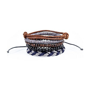 Blue woven bracelets pack